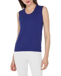 Akris - Scoop-neck Knit Cotton Tank Top - Lyst