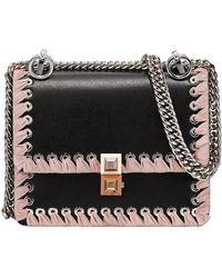 0d50caf4c779 Lyst - Fendi Pink Kan I Large Ribbon Leather Shoulder Bag in Pink