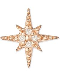 Sydney Evan - Starburst Diamond Single Stud Earring - Lyst