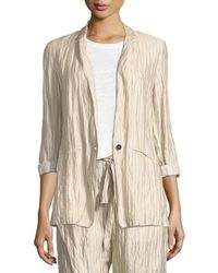 Giada Forte - Crinkle Pinstripe One-button Jacket - Lyst
