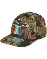 Gucci - Floral Baseball Cap With Ufo - Lyst