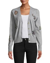 Cinq À Sept - Daphne Embellished Button-front Cardigan - Lyst