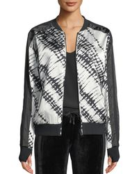 BLANC NOIR - Reversible Printed Silk Bomber Jacket - Lyst
