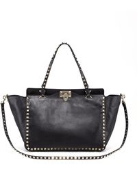 Valentino - Rockstud Double-handle Tote Bag - Lyst