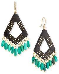 Ashley Pittman - Mashua Dark Horn Dangle Earrings W/ Turquoise - Lyst