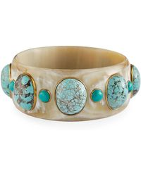 Ashley Pittman - Michezo Light Horn & Turquoise Bangle - Lyst