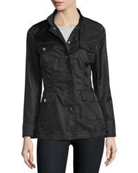 Jane Post - High-neck Snap-front Jacket - Lyst