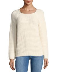 M.i.h Jeans - Opening Waffle-knit Tieback Sweater - Lyst