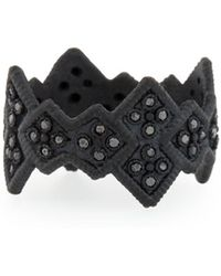Armenta - Midnight Cravelli Black Diamond Wide Ring - Lyst