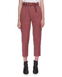 Étoile Isabel Marant - Oah Rosewood City High-waist Cropped Trousers - Lyst