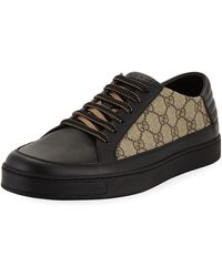 Gucci - Men's Common Gg Supreme Low-top Sneakers - Lyst