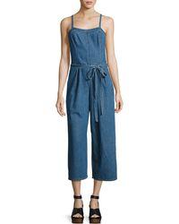 AG Jeans | Giesele Wide-leg Denim Jumpsuit | Lyst