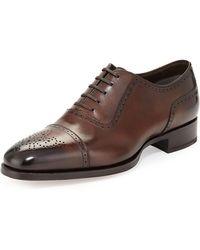 Tom Ford - Austin Cap-toe Oxford Shoe - Lyst