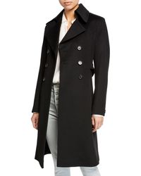 Fleurette - Double-breasted Back-belt Wool Coat - Lyst