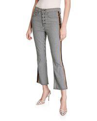Veronica Beard - Carolyn Baby Boot-cut Tuxedo-striped Jeans - Lyst