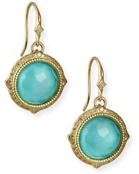 Armenta - Old World Turquoise/quartz Drop Earrings W/ Diamonds & 18k Gold - Lyst