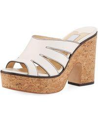 Jimmy Choo - Dray Vachetta Platform Sandal - Lyst