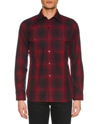 Tom Ford - Men's Shaded Check Sport Shirt - Lyst