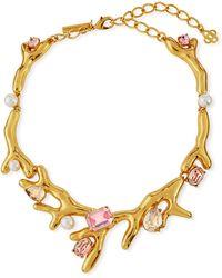 Oscar de la Renta - Coral Choker Necklace W/ Swarovski® Crystals - Lyst