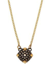 Armenta - Old World Midnight Pavé Diamond Cushion Necklace - Lyst