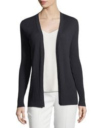 Lafayette 148 New York - Modern Rib-knit Button-front Cardigan - Lyst