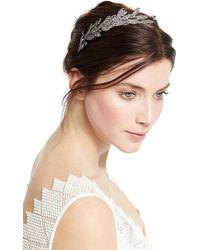 Jennifer Behr | Arielle Crystal Leaf Headband | Lyst