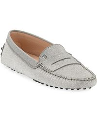 cce4fd4324a Lyst - Tod s Metallic Glitter Loafer in Metallic