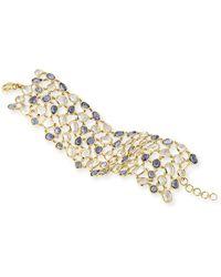 Monica Rich Kosann - 18k Blue Sapphire & Rock Crystal Mosaic Bracelet - Lyst