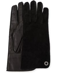 Loro Piana - Jacqueline Suede And Leather Gloves - Lyst