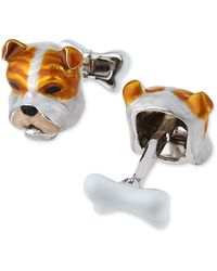 Jan Leslie - Sterling Silver And Enamel Dog Face Cuff Links - Lyst