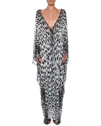 7df56ba2c8 Tom Ford - Long Panther-print Open-side Caftan - Lyst