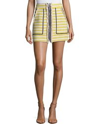 Veronica Beard - Lynden Mini Skirt W/ Zip Front - Lyst