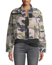 Zadig & Voltaire - Cropped Camo-print Military Jacket - Lyst