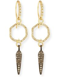 Armenta - Old World Small Circle Spike Earrings With Diamonds - Lyst