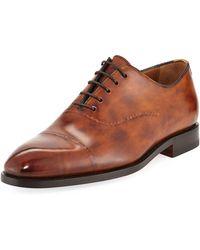 Bontoni - Vittorio Burnished Leather Dress Shoe - Lyst