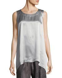 Eskandar - A-line Silk Shell - Lyst