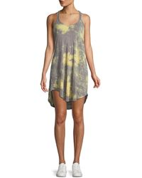 ATM - Tie-dye Scoop-neck Racerback Cotton Tank Dress - Lyst