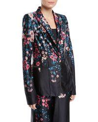 Nanette Lepore - Balmore Floral Silk Blazer - Lyst