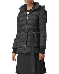 Burberry - Limehouse Mid-length Puffer Coat With Detachable Hood - Lyst