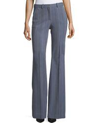Theory - Demitria 2 Eldora Stripe Flared-leg Wool Pants - Lyst