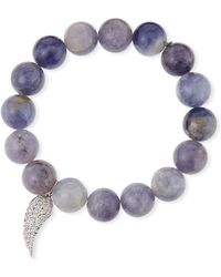 Sydney Evan - 14k Diamond Wing & Iolite Bracelet - Lyst