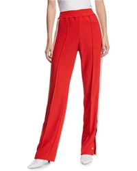 Pinko Snap-up Racer Stripe Track Pants