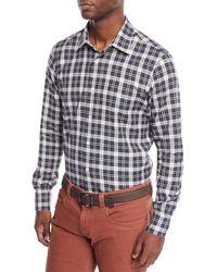 Loro Piana - Men's Arthur Plaid Linen Sport Shirt - Lyst