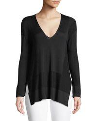 Urban Zen - V-neck Long-sleeve Silk-cotton Knit Pullover Sweater - Lyst