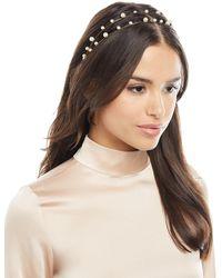 Jennifer Behr - Sybil Swarovski® Pearl Bandeau Headband - Lyst