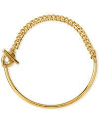 Fallon - Curb Chain Toggle Collar - Lyst