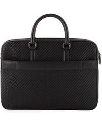 Ermenegildo Zegna Men's Pelle Business Bag - Black