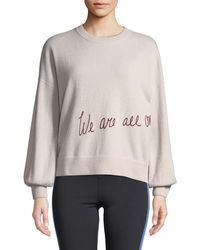 Spiritual Gangster - We Are All One Embroidered Pullover Sweater - Lyst