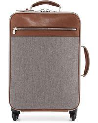 Brunello Cucinelli - Men's Leather & Wool-cashmere Trolley Suitcase - Lyst