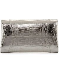 Nancy Gonzalez - Crocodile Envelope Clutch Bag - Lyst